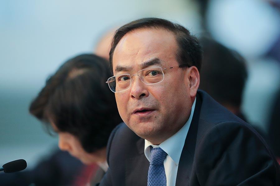 被視為中共第六代接班人的孫政才在北戴河會議前落馬,引發政壇震撼。(Lintao Zhang/Getty Images)