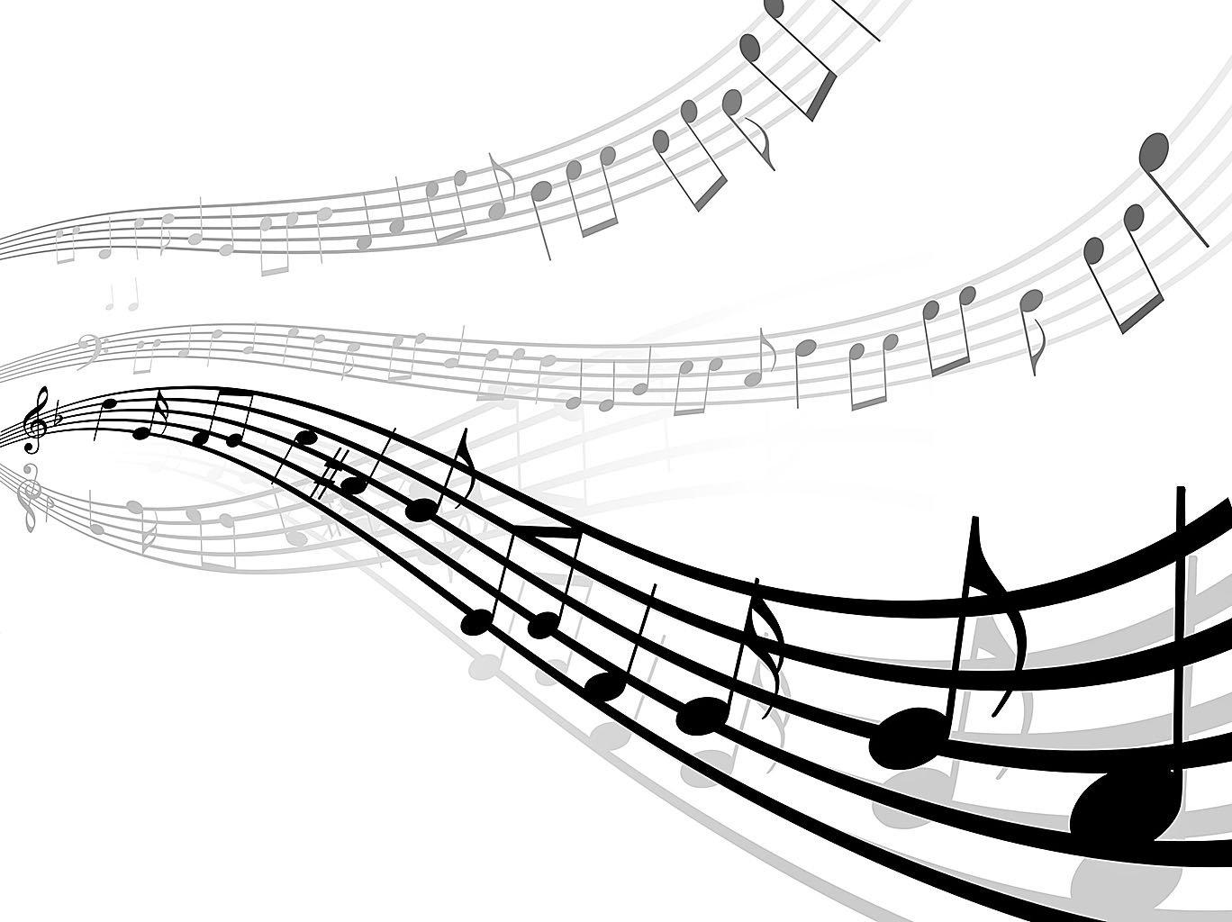 抽象的音樂線條與筆記(fotolia)