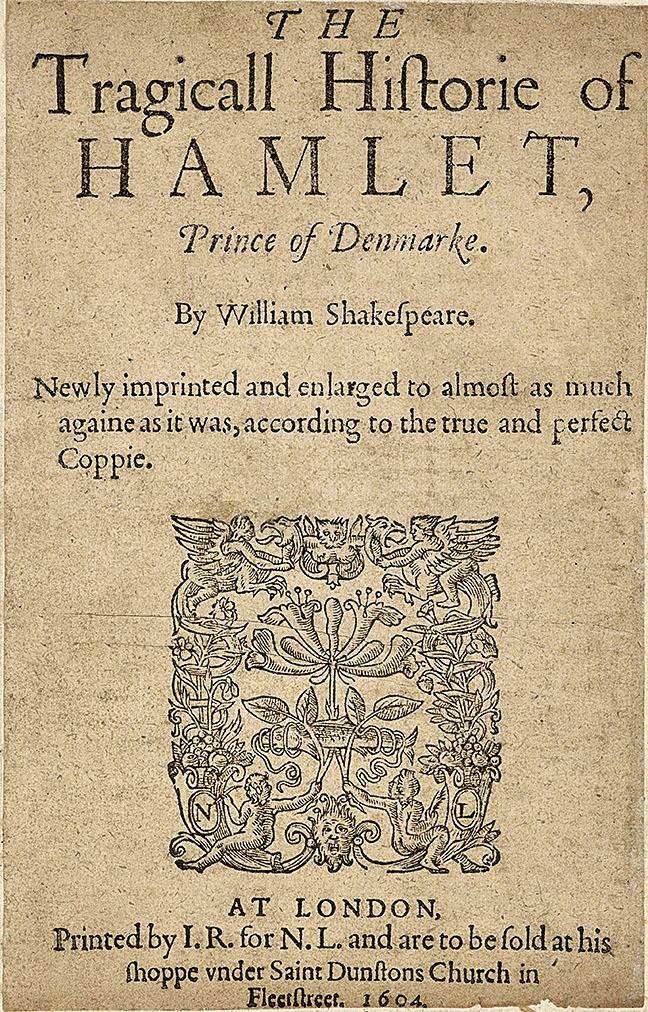 《第二四開本》中的《哈姆雷特》(維基百科)