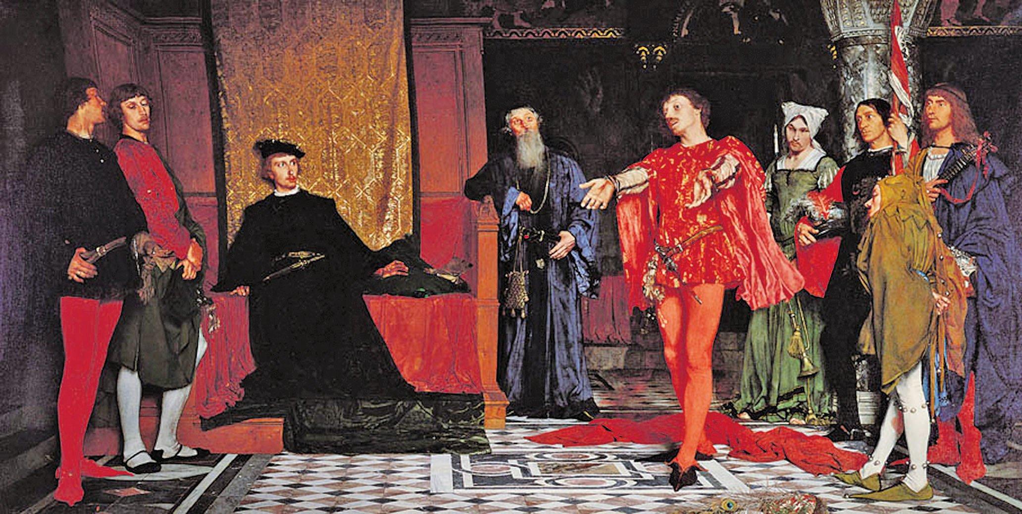 《哈姆雷特面前的演員》瓦迪斯瓦夫(Władysław Czachórski),華沙國家博物館(維基百科)
