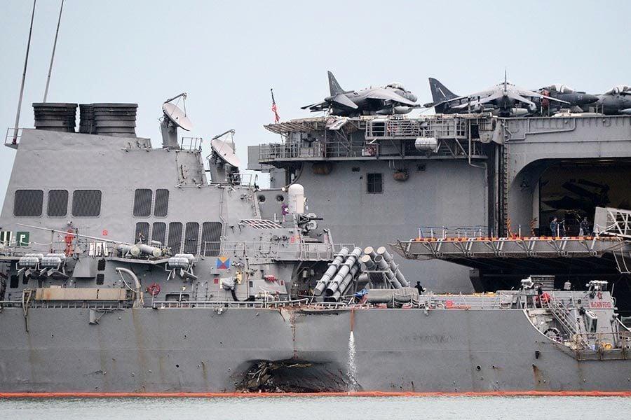 美海軍公佈十失蹤水手名單 暫停大範圍搜救