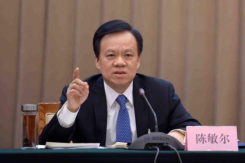 日前,日媒曝光最新政治局常委名單,其中重慶市委書記陳敏爾在名單之內。圖為陳敏爾。(網絡圖片)