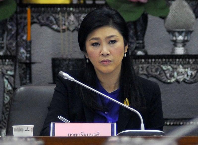 8月25日泰國最高法院對前總理英祿・西那瓦(Yingluck Shinatrawa)「大米瀆職案」作出裁決。圖為去年1月泰國憲法法庭法官裁定總理英祿濫權違憲罪名確立,必須下台。(AFP)