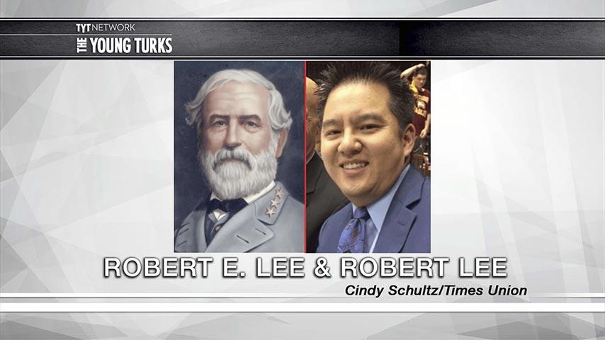一名華裔體育播報員被撤下,因為他的名字跟美國南方將領羅伯特・李(Robert E. Lee)的名字太接近。(視像擷圖)