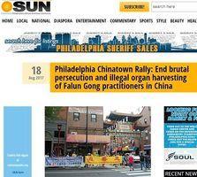 美媒報道唐人街集會呼籲停止迫害法輪功