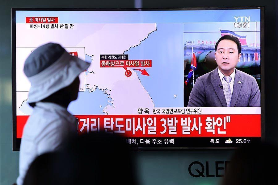 北韓發射三枚短程導彈 兩枚失敗一枚爆炸