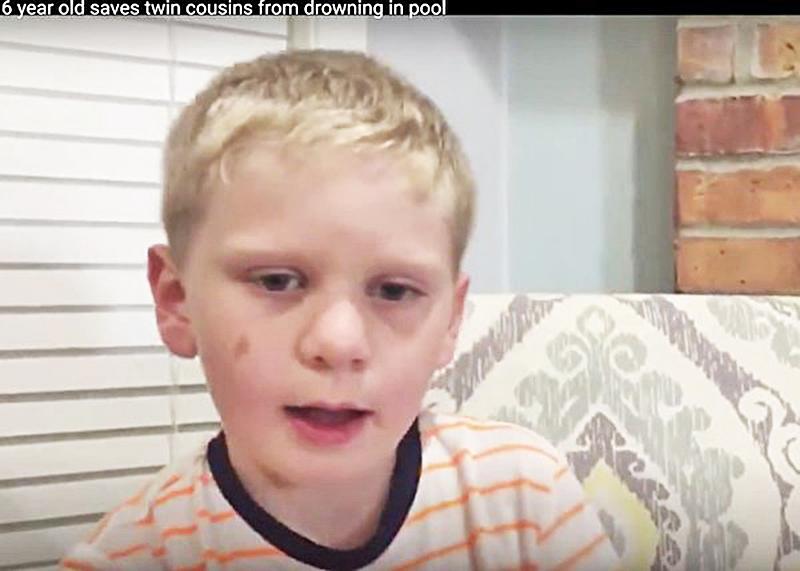 雙胞胎表弟溺水 6歲童冷靜救命被稱奇蹟