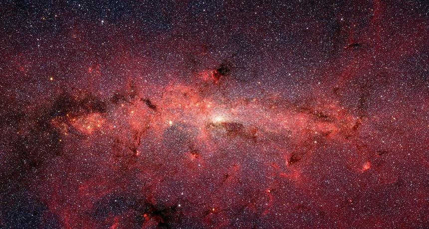 七夕,牛郎織女愛情故事,二千多載娓娓道來。(NASA/JPL-Caltech/S. Stolovy)
