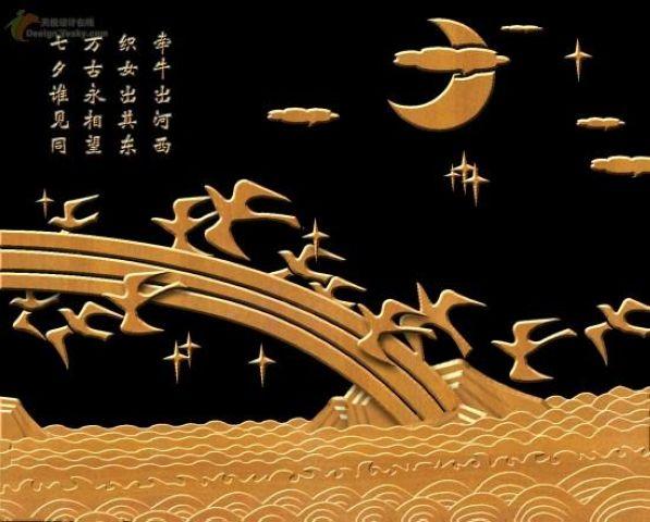 七夕,鵲鳥為牛郎織女搭橋。(網絡圖片)