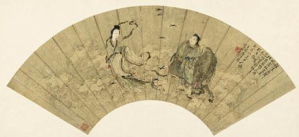 濰坊年畫〈牛郎織女〉。(網路圖片)