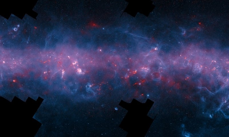 南部天空銀河系的肉眼不可見圖像。(歐洲南天天文台 The European Southern Observatory, ESO)
