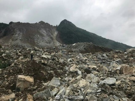 8月28日上午11時許,貴州省畢節市納雍縣張家灣鎮附近發生山體垮塌事件。(網絡圖片)