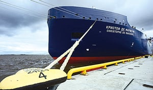 無破冰船護航 首艘油輪穿越北極航線