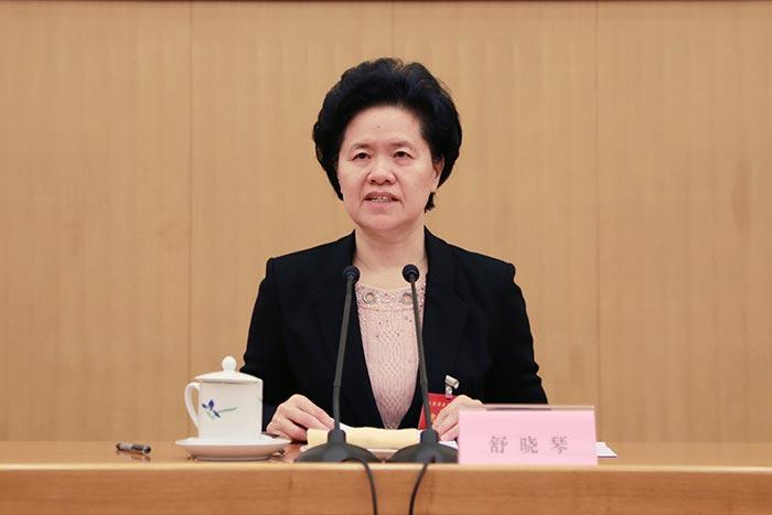 在周永康掌政法委時,舒曉琴成為中共公安系統首位女副總警監。(網絡圖片)