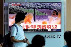北韓發射導彈經日本上空