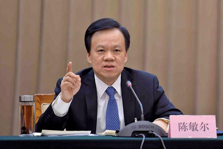 最近,重慶市委書記陳敏爾成為入常熱門人選。(網絡圖片)