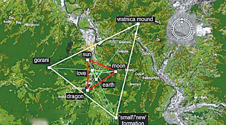 幾大金字塔的地理位置。(網路圖片)