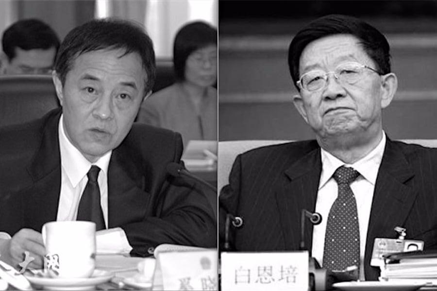 圖左為中共最高法院前副院長奚曉明,圖右為雲南省前省委書記白恩培。(合成圖片)