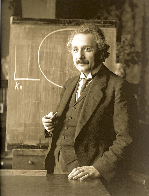 阿爾伯特·愛因斯坦(Albert Einstein)1921年在維也納(維基百科)