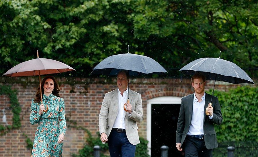戴安娜王妃逝世廿周年 威廉哈里雨中悼亡母