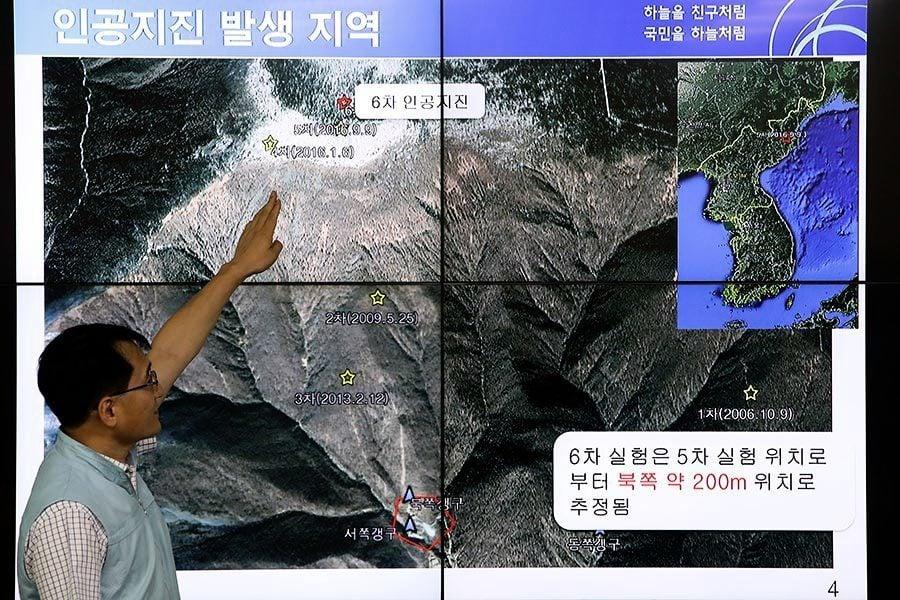 北韓進行第六次核爆試驗 產生6.3級地震