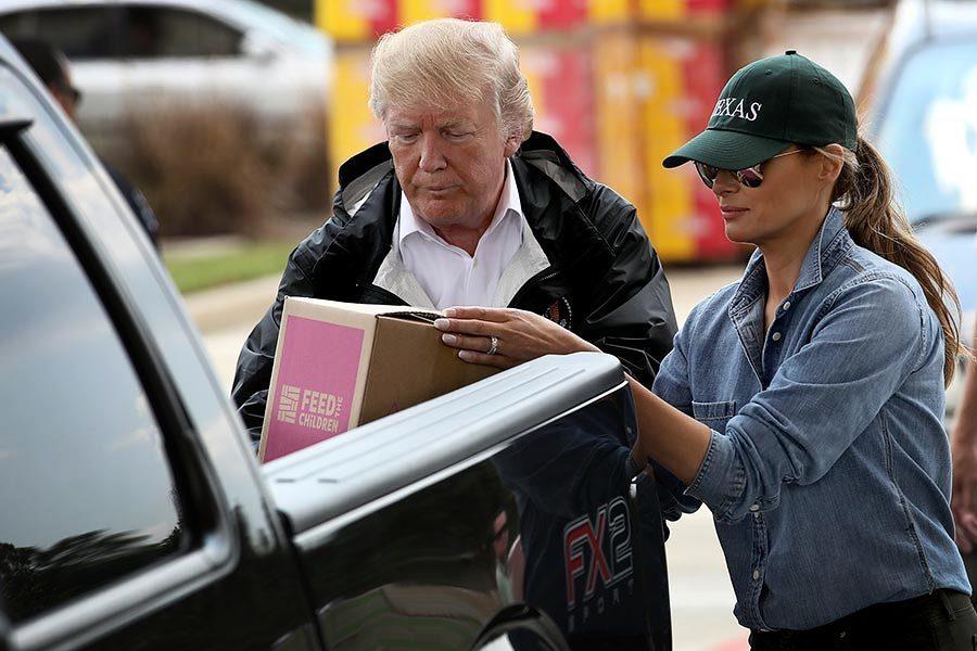 特朗普再訪哈維災區:充滿愛 這裏井然有序