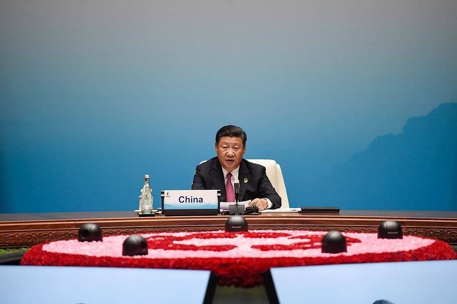 習近平出席9月3日至5日在中國廈門舉行的金磚國家峰會。(FRED DUFOUR/AFP/Getty Images)