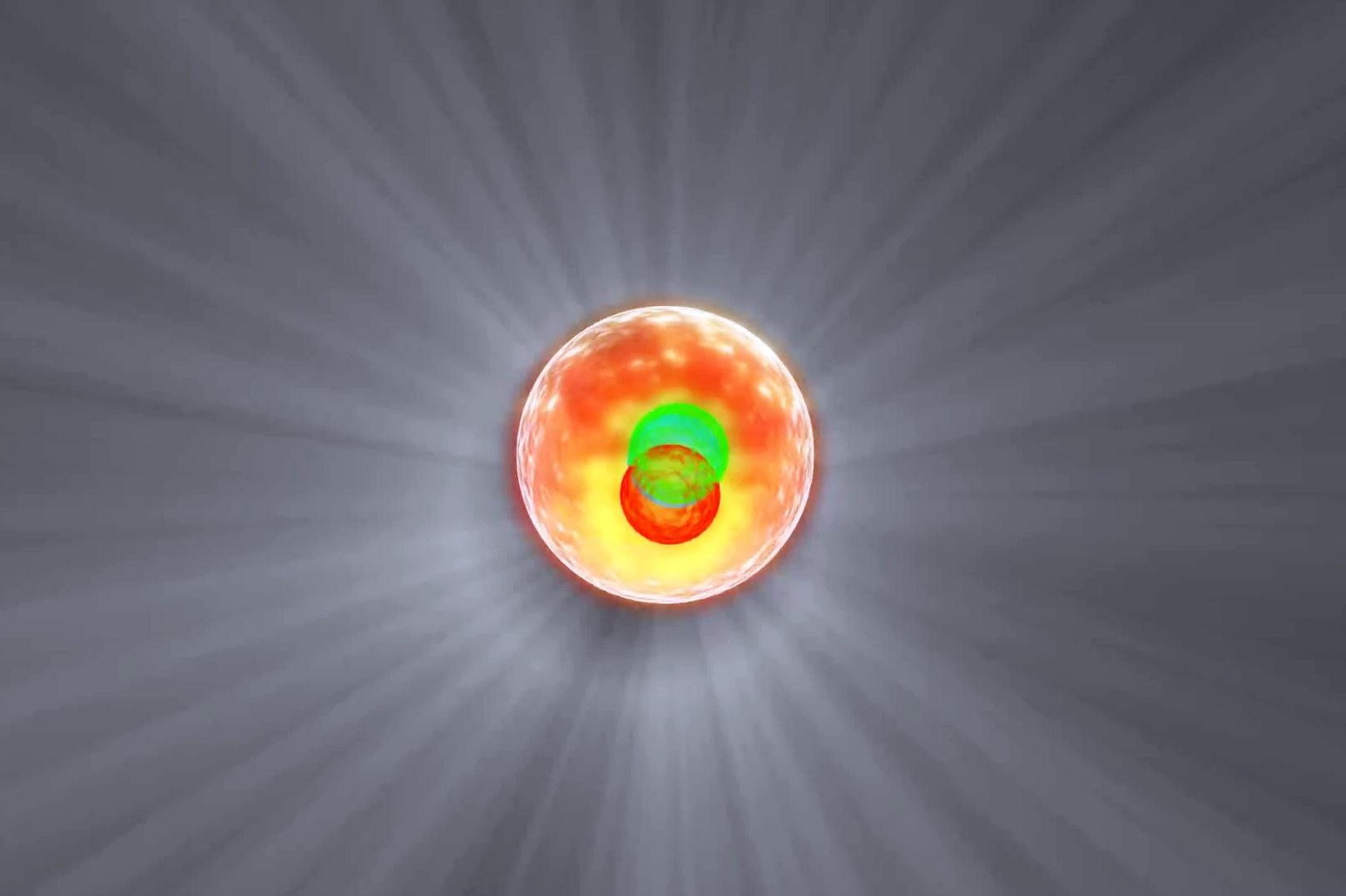 光子是否也像原子核那樣由更基本的粒子組成?(ATLAS視像擷圖)