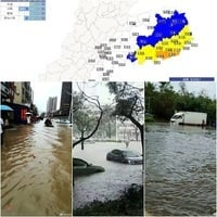 11天連遭三颱風襲擊 廣東多地變澤國