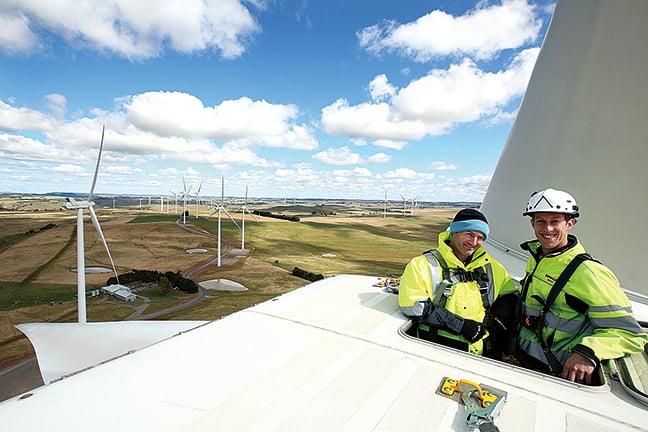 風力發電是可再生能源的主要來源之一。(Getty Images)