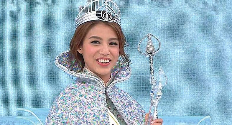 《2017香港小姐競選決賽》雙料港姐冠軍雷莊𠒇。(網絡圖片)