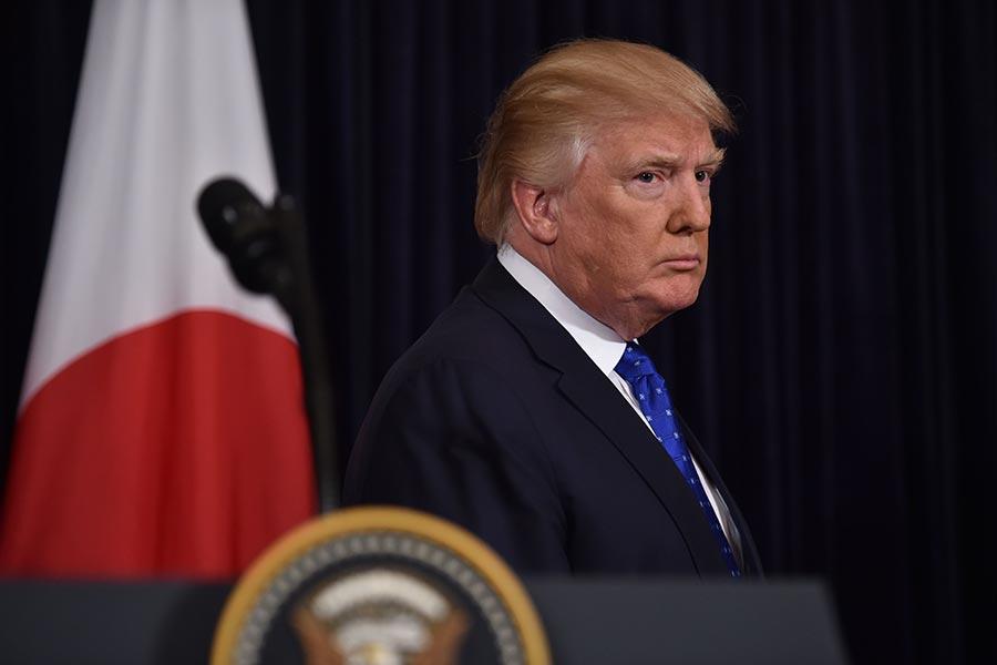 美國中央情報局前代理副局長莫雷爾分析稱,特朗普總統面對北韓的威脅有幾個選擇。(NICHOLAS KAMM/AFP/Getty Images)