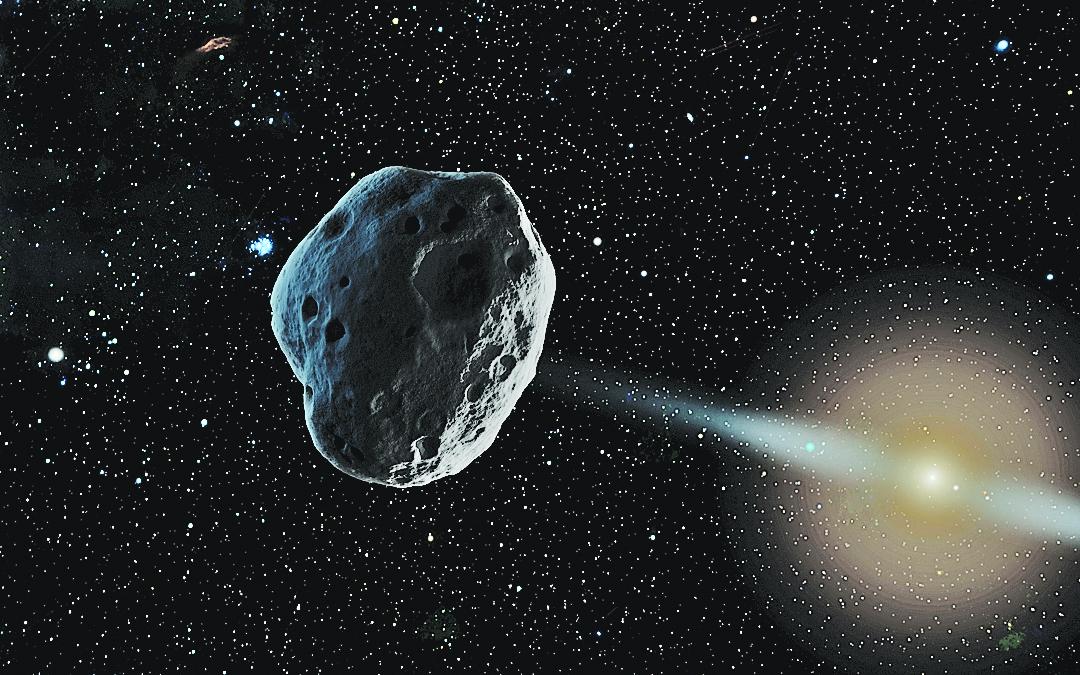 名叫佛羅倫斯(Florence) 的小行星,於星期五(9月1日)美東時間上午8時05分以相距地球700萬公里的距離高速掠過。(NASA/JPL-Caltech)