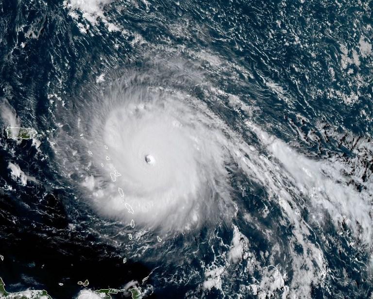 9月5日颶風伊瑪衛星圖像。(AFP PHOTO / NOAA/RAMMB)