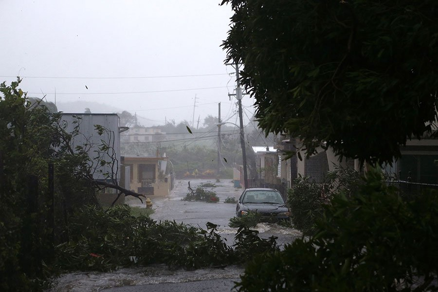 9月6日,颶風艾爾瑪襲擊了波多黎各,造成嚴重破壞。(Jose Jimenez/Getty Images)