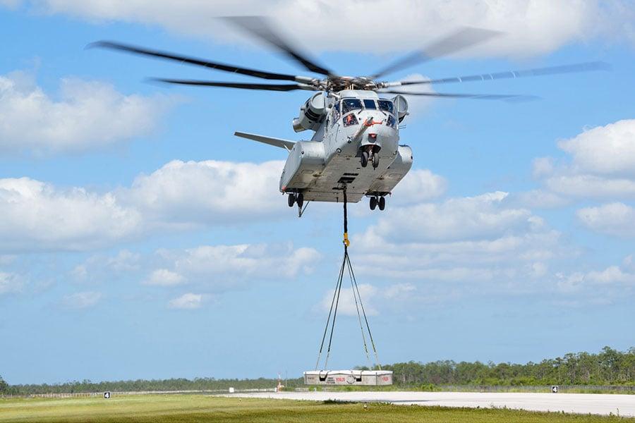 CH-53K載重量為以前型號的三倍。(US NAVY/Sikorsky)