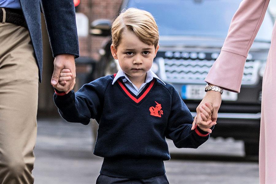 英喬治王子第一天上學去 由威廉王子接送
