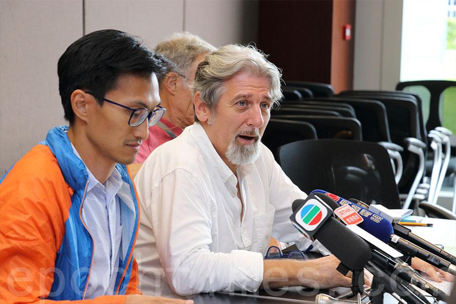 「民間土地資源專家組」小組主席司馬文強調,小組的成立並非要與政府的小組「打對台」,而是令本港土地發展策略的討論變得更公開。(蔡雯文/大紀元)