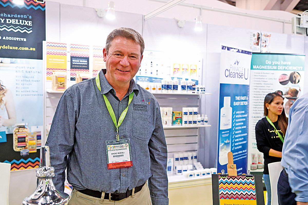 墨爾本的Magic Muesli CEO Mr. Steve Richardson推出100%天然麥片 認為香港是適合推廣新商品好市場。