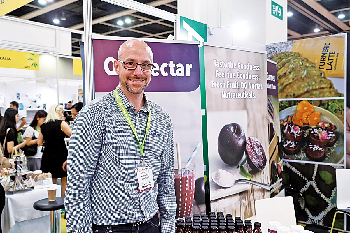 來自布里斯本(Brisbane)Nutrafruit的CEO及市場總監 Mr. Luke Couch首次來港 希望新商品受市場喜愛。