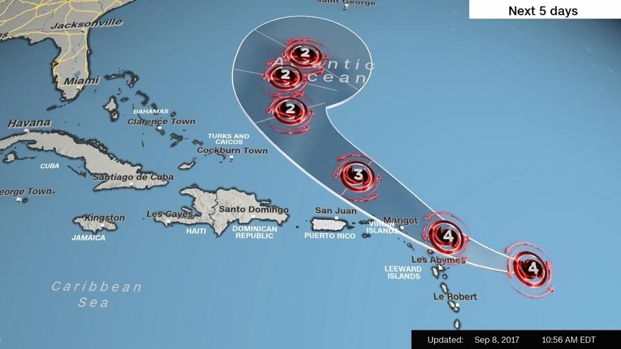 四級颶風荷西緊隨艾爾瑪 加勒比海島料再遇襲