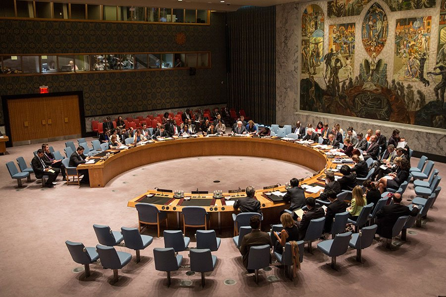 美國要求聯合國安理會於下周一投票表決對北韓的新一輪制裁。(Andrew Burton/Getty Images)