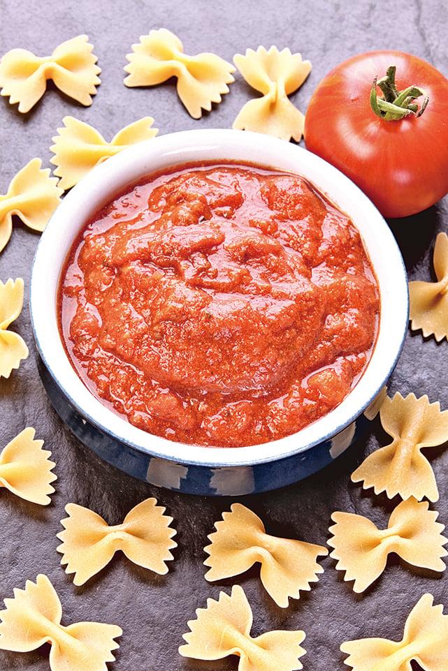 意粉跟醬汁是相互襯托的雙主角,番茄醬是很常見的意粉醬汁。