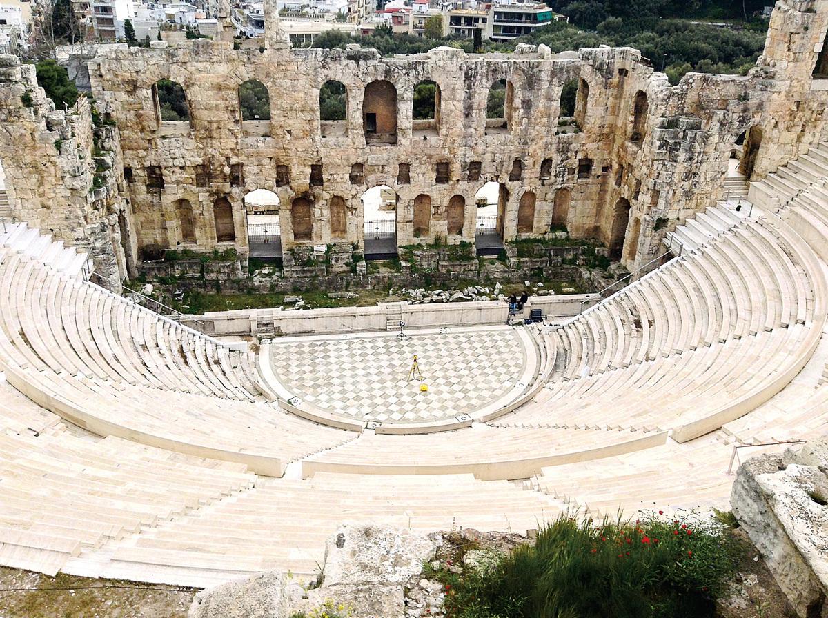 位於衛城的南面坡地上希羅德阿提庫斯劇場。(網絡圖片)