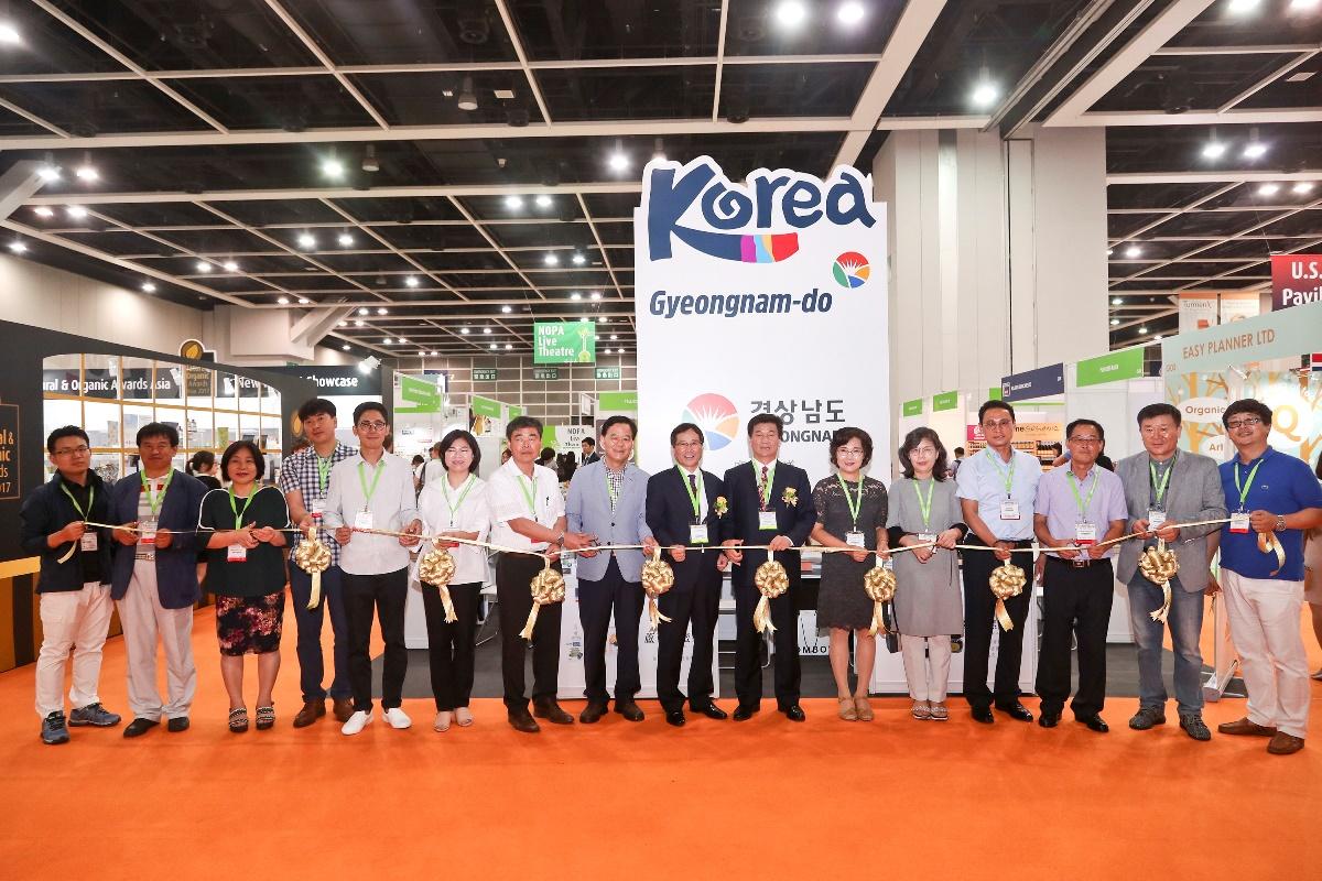 韓國館首次在NOPA成立,帶來16家慶商南道獨具特色的各式農產保健品。