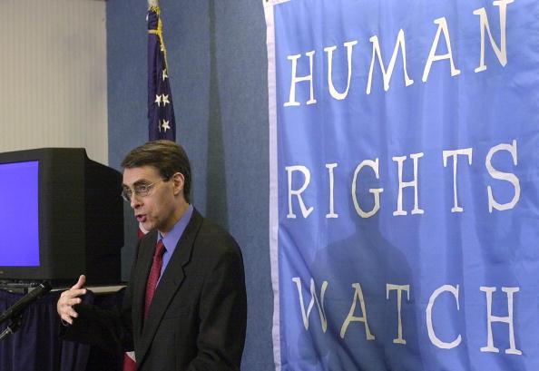 圖為《人權觀察》執行主任肯尼斯・諾斯(Kenneth Roth)。(NICHOLAS KAMM/AFP/Getty Images)