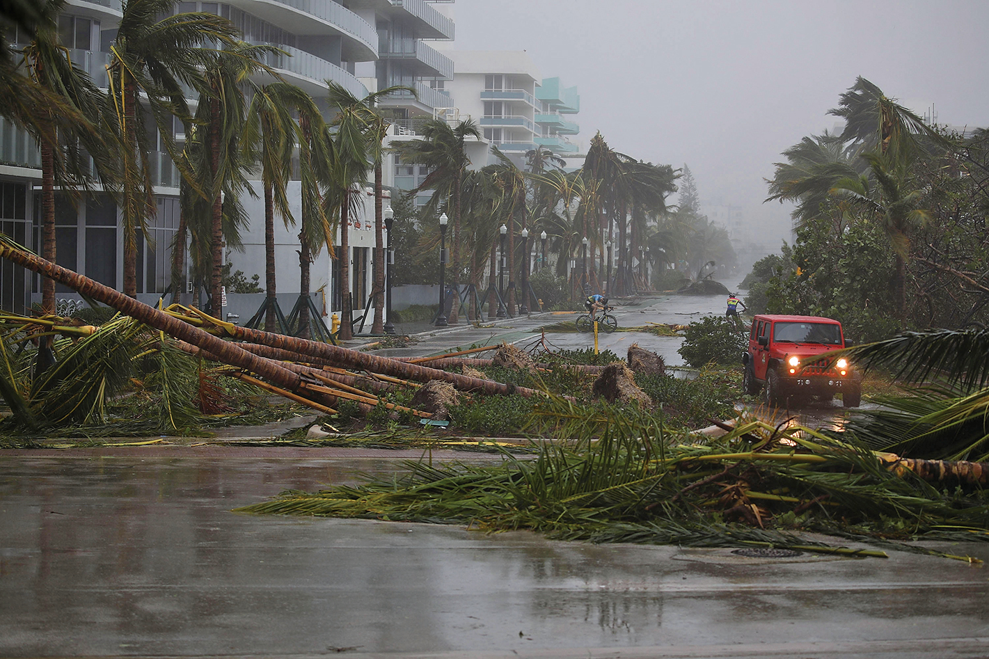 艾爾瑪給佛州南部帶來狂風和風暴潮。(Getty Images)