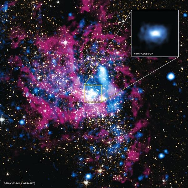 銀河中心現新黑洞 藏身怪雲中
