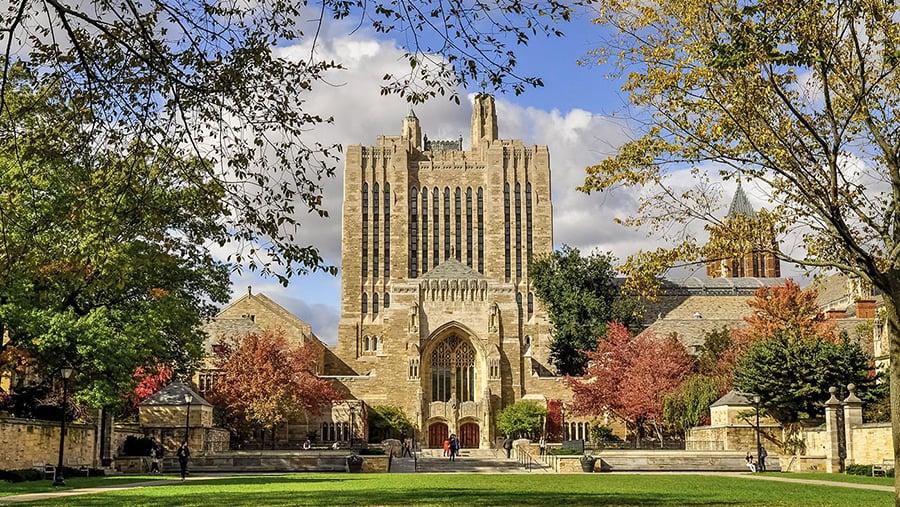 College Factual的新數據顯示,位於康乃狄克州紐黑文的私立學校耶魯大學(Yale University)蟬聯美國最佳大學寶座。(耶魯大學)