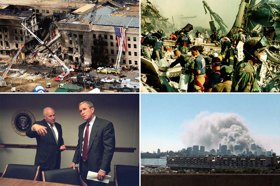 驚心動魄 美國防部發佈911恐襲罕見照片